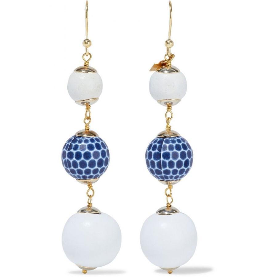 【期間限定!最安値挑戦】 ロザンティカ Crans beaded ROSANTICA レディース イヤリング・ピアス earrings ジュエリー・アクセサリー Crans gold-tone beaded earrings White, パインバリュー:0ebbce36 --- airmodconsu.dominiotemporario.com