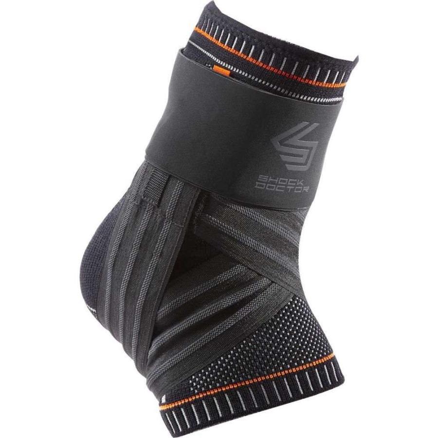 ショックドクター Shock Doctor ユニセックス フィットネス・トレーニング アンクルブレイス サポーター ultra knit ankle brace with figure-6 strap 黒