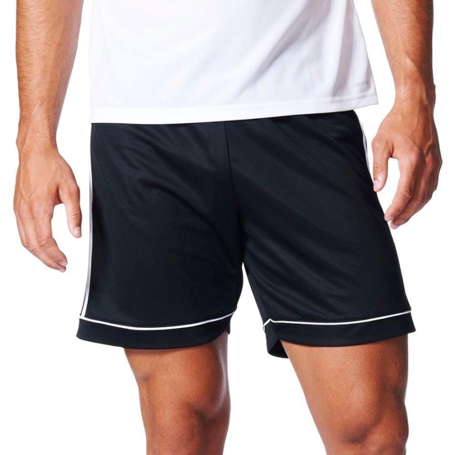 アディダス adidas メンズ サッカー ショートパンツ ボトムス・パンツ squadra 17 soccer shorts 黒/白い