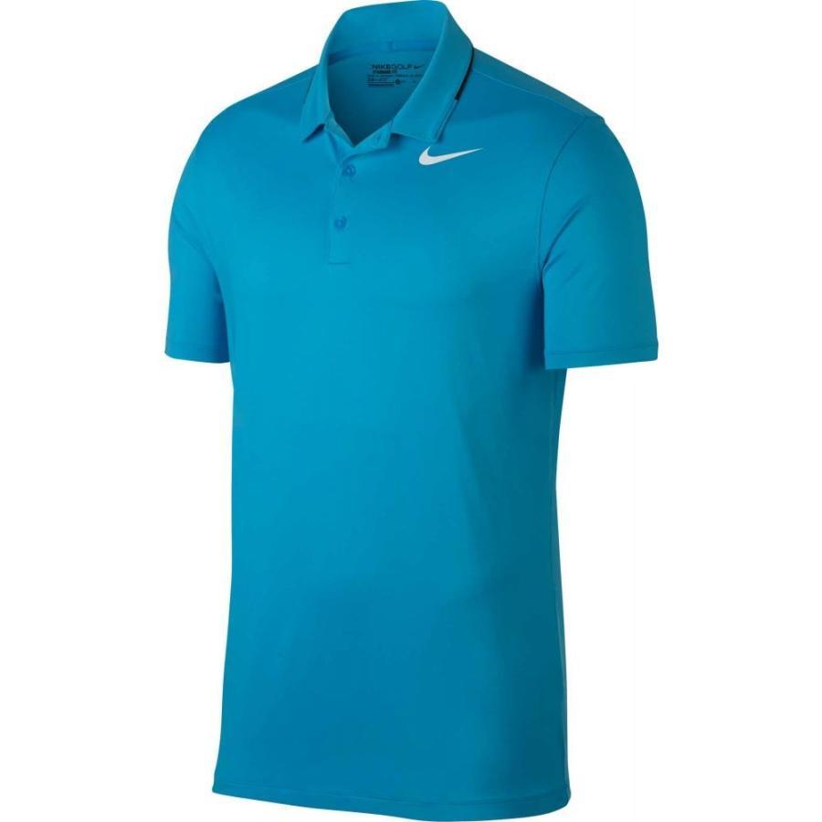 ナイキ Nike メンズ ゴルフ ポロシャツ トップス icon elite golf polo 青 Fury/黒/白い