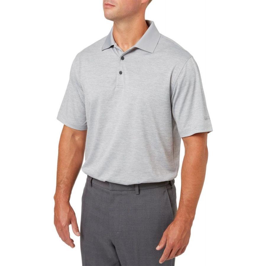 ウォルターヘーゲン Walter Hagen メンズ ゴルフ ポロシャツ トップス core space dye golf polo グレー Alloy