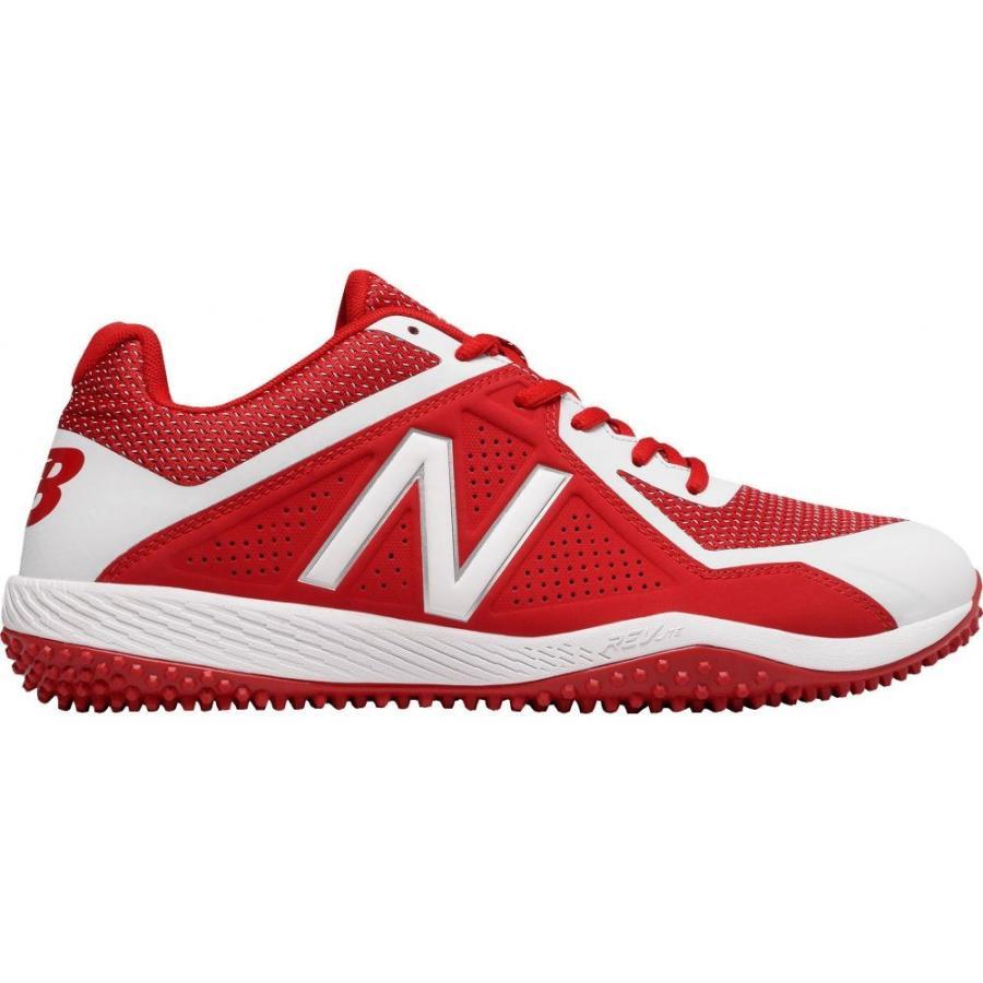 ニューバランス New Balance メンズ 野球 スパイク シューズ・靴 4040 v4 turf baseball cleats 赤/白い