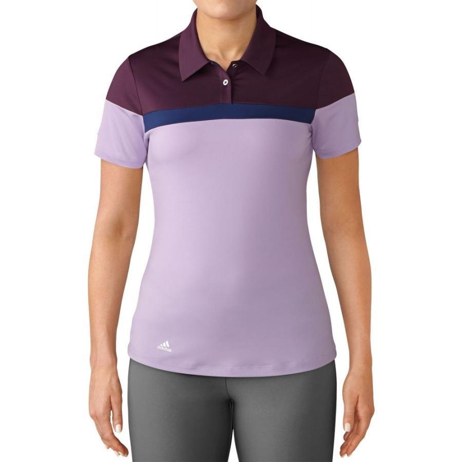 アディダス adidas レディース ゴルフ ポロシャツ トップス color blocked golf polo Red Night