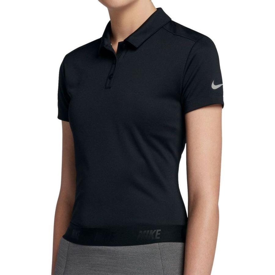 ナイキ Nike レディース ゴルフ トップス dry short sleeve golf polo 黒