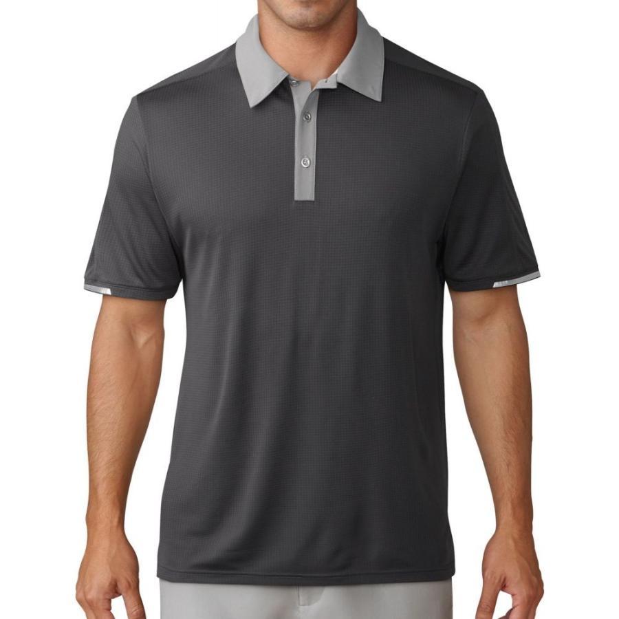 アディダス adidas メンズ ゴルフ ポロシャツ トップス climachill iconic golf polo Carbon/グレー Three