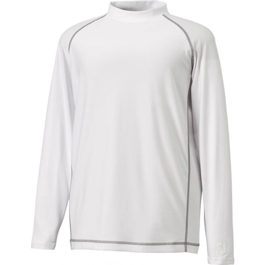 フットジョイ FootJoy メンズ ゴルフ ベースレイヤー トップス performance golf baselayer 白い