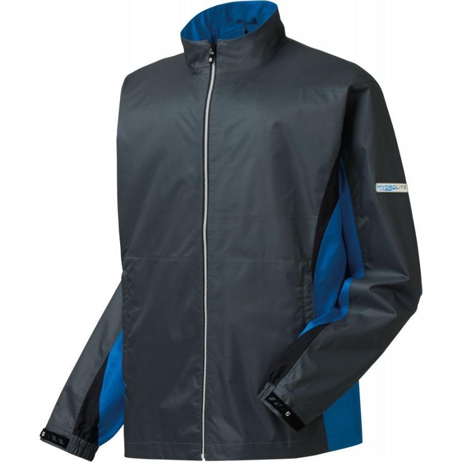 フットジョイ FootJoy メンズ ゴルフ レインジャケット アウター hydrolite golf rain jacket Charcoal/Cadet 青/黒