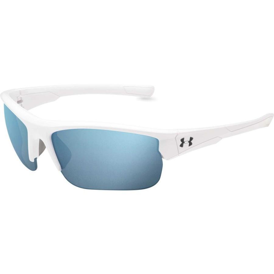 アンダーアーマー Under Armour メンズ スポーツサングラス propel running sunglasses Satin 白い/青 Mirror