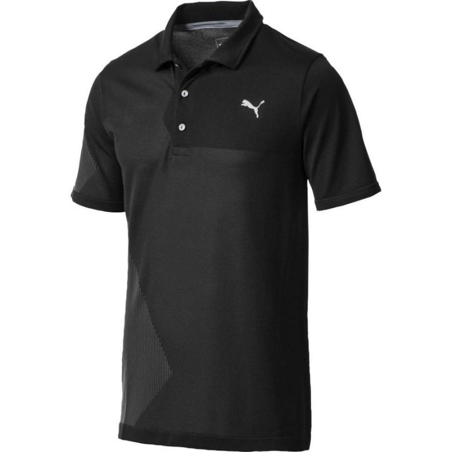 プーマ PUMA メンズ ゴルフ ポロシャツ トップス evoknit dassler golf polo Puma 黒
