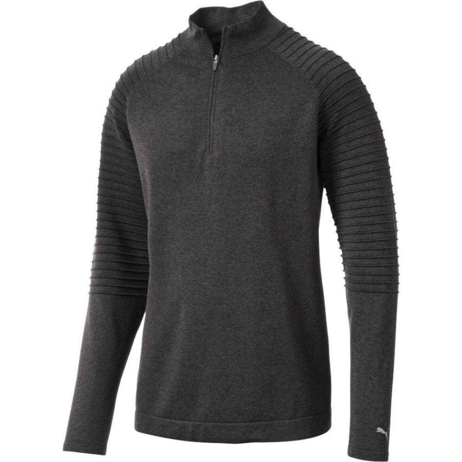 プーマ PUMA メンズ ゴルフ トップス evoknit performance golf zip Puma 黒