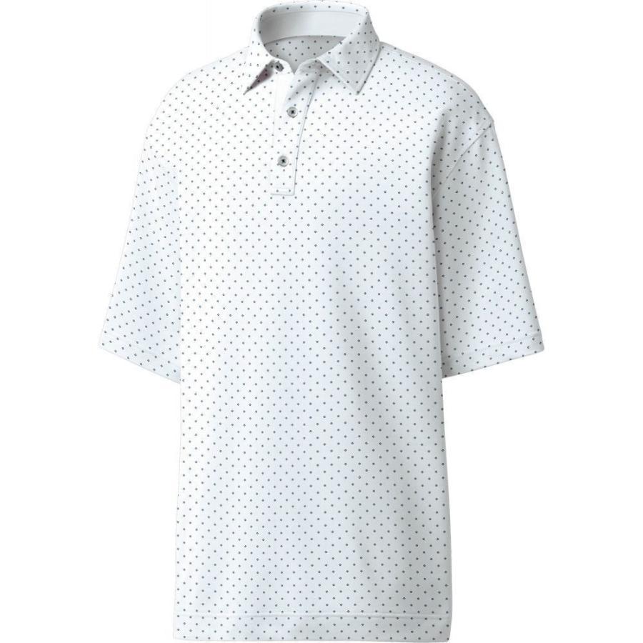 フットジョイ FootJoy メンズ ゴルフ ポロシャツ トップス lisle diamond print golf polo 白い/Navy