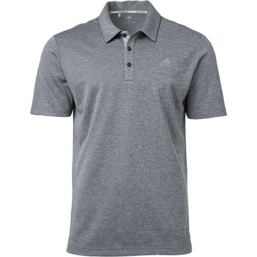 アディダス adidas メンズ ゴルフ ポロシャツ トップス drive novelty heather golf polo Black Heather