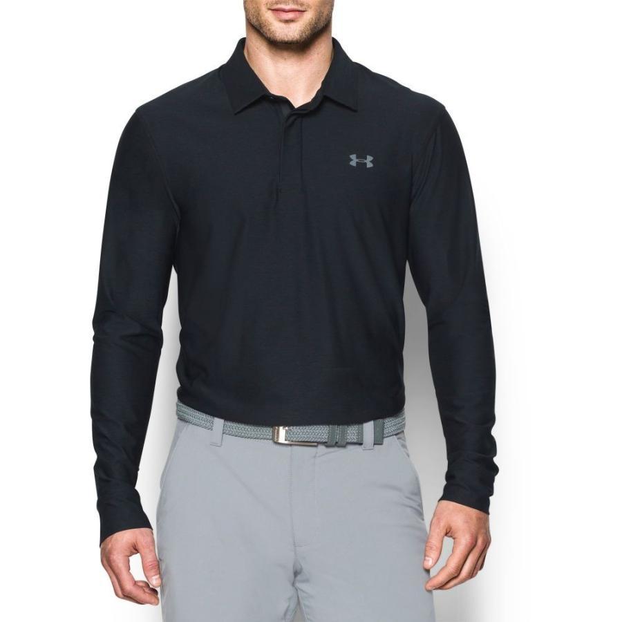アンダーアーマー Under Armour メンズ ゴルフ ポロシャツ トップス long sleeve golf polo - extended sizes Black/Graphite