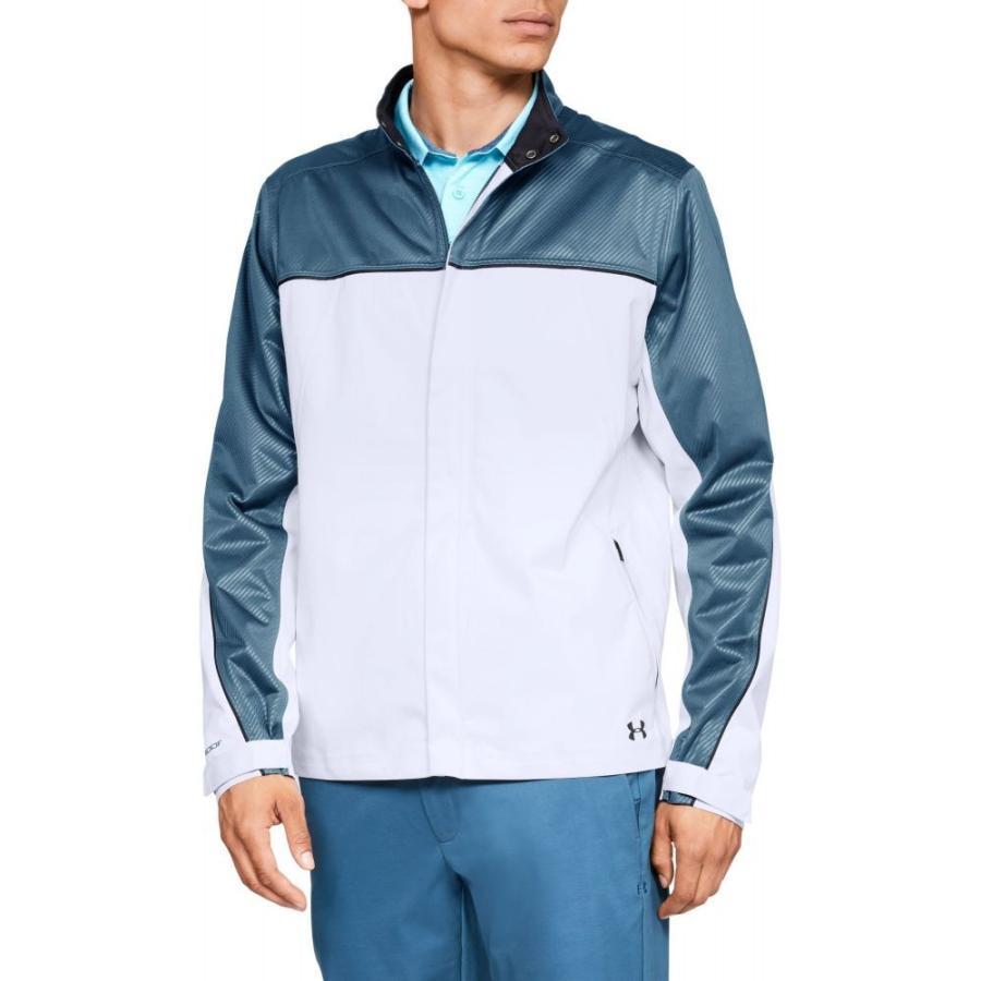 アンダーアーマー Under Armour メンズ ゴルフ レインジャケット アウター storm golf rain jacket 白い