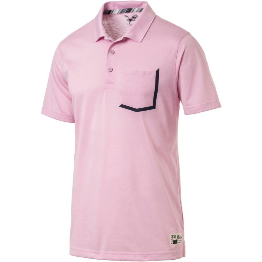 プーマ PUMA メンズ ゴルフ ポロシャツ トップス faraday golf polo Pale Pink Heather