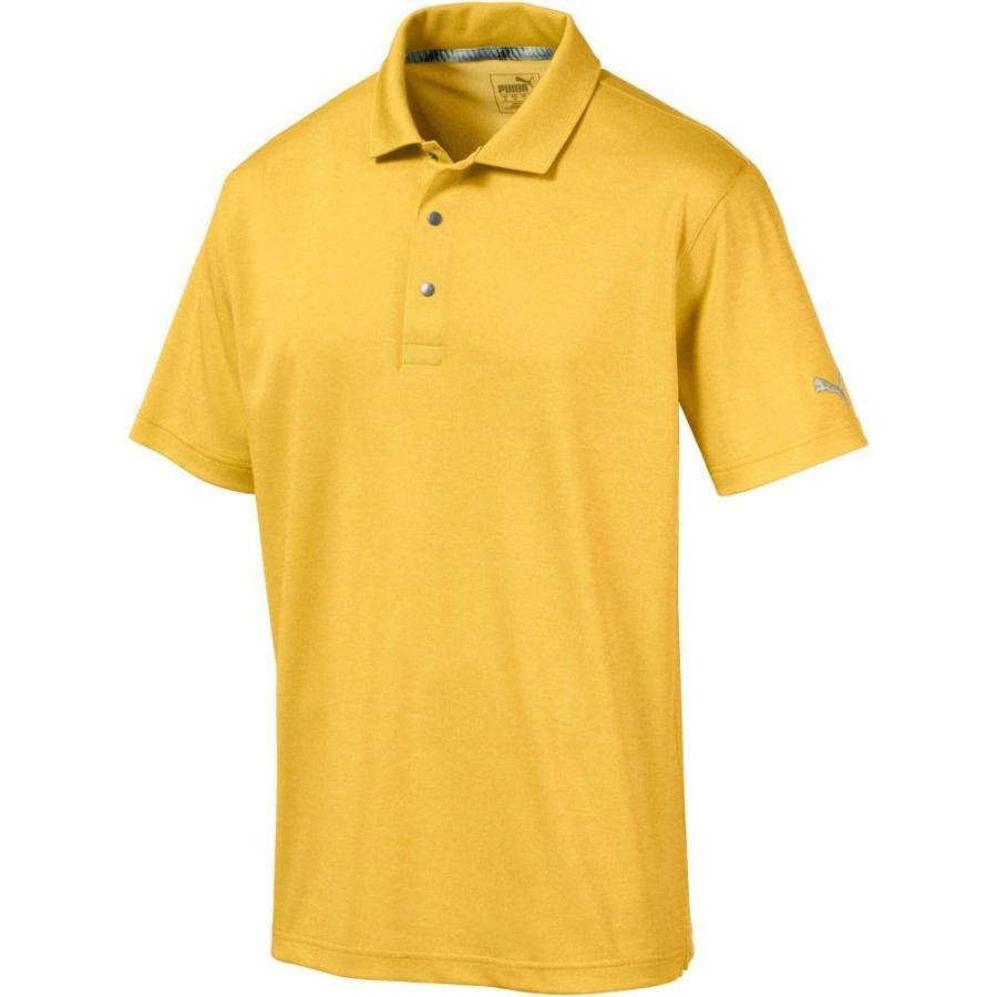 プーマ PUMA メンズ ゴルフ ポロシャツ トップス grill to 緑 golf polo Sulphur Heather