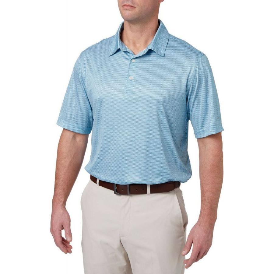 ウォルターヘーゲン Walter Hagen メンズ ゴルフ ポロシャツ トップス essential oval printed golf polo Niagara 青