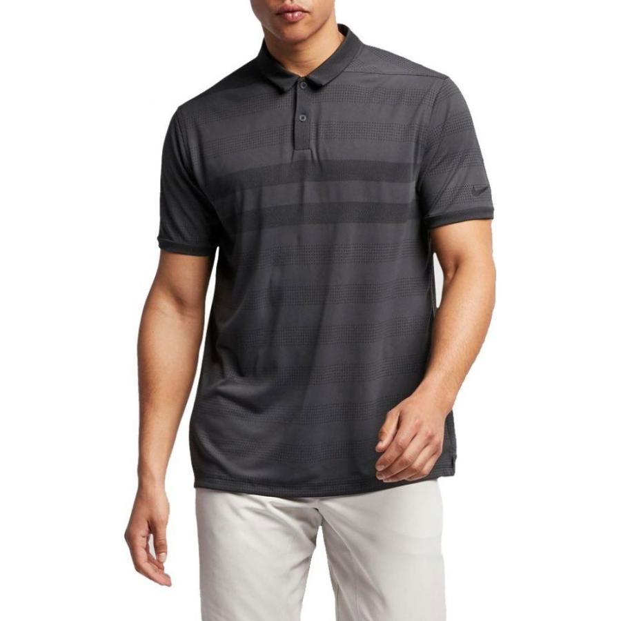 ナイキ Nike メンズ ゴルフ ポロシャツ トップス zonal cooling stripe golf polo Anthracite