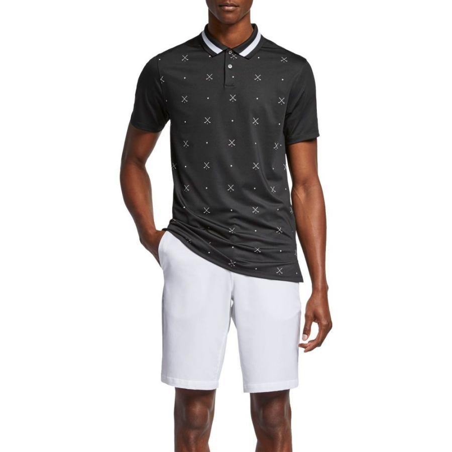 ナイキ Nike メンズ ゴルフ ポロシャツ トップス vapor print golf polo 白い