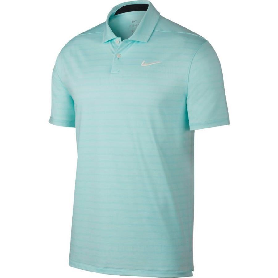 ナイキ Nike メンズ ゴルフ ポロシャツ トップス vapor stripe golf polo Teal Tint