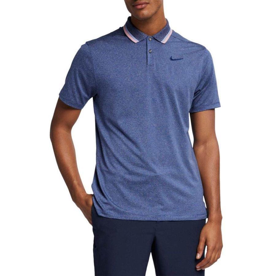 ナイキ Nike メンズ ゴルフ ポロシャツ トップス vapor control stripe golf polo Blue Void