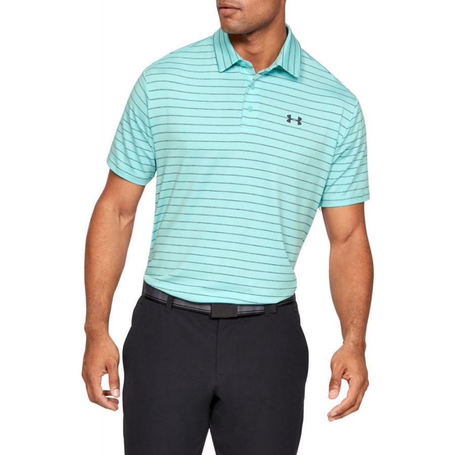 アンダーアーマー Under Armour メンズ ゴルフ ポロシャツ トップス playoff 2.0 tour stripe golf polo Neo Turquoise/Batik