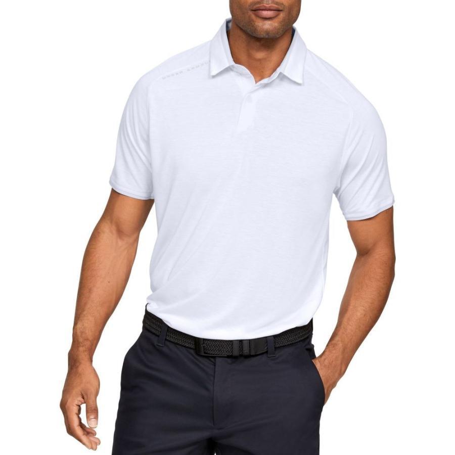 アンダーアーマー Under Armour メンズ ゴルフ ポロシャツ トップス vanish golf polo 白い
