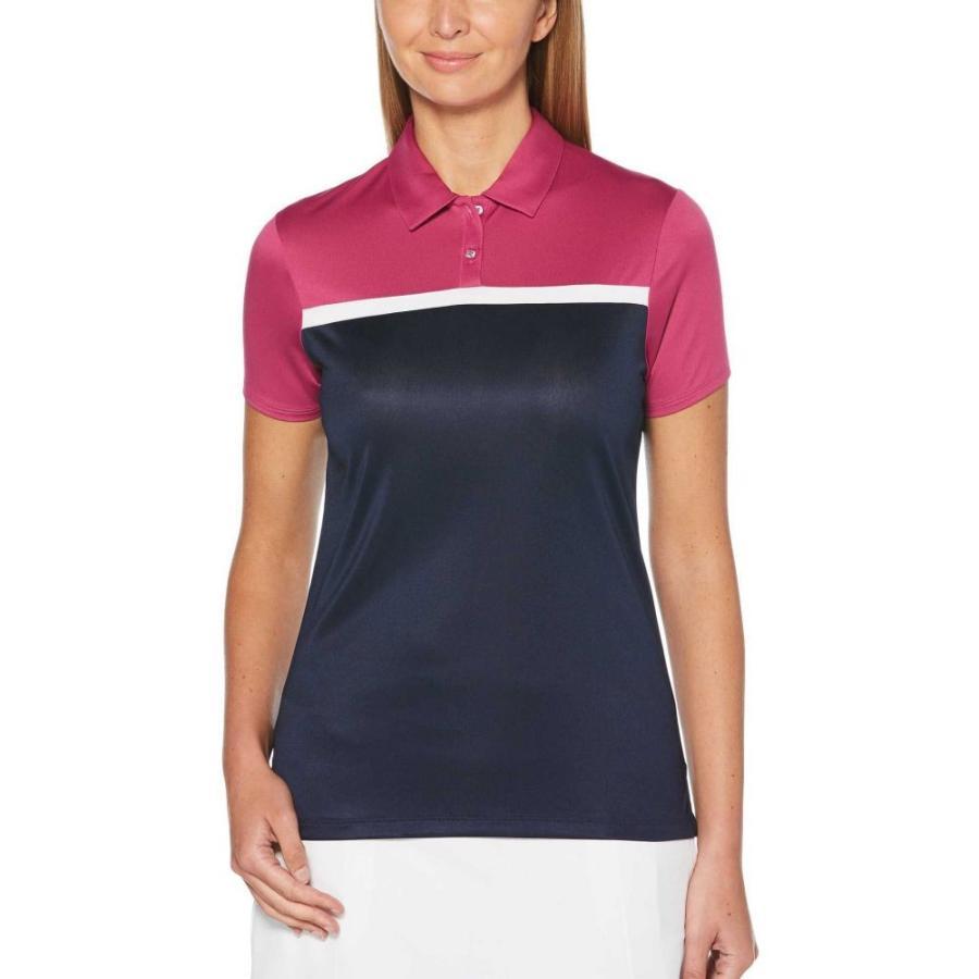 キャロウェイ Callaway レディース ゴルフ ポロシャツ トップス color block golf polo Wild Aster