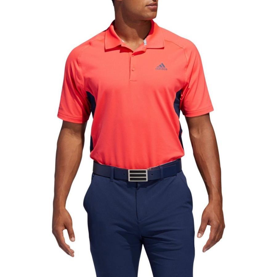 アディダス adidas メンズ ゴルフ ポロシャツ トップス ultimate365 climacool solid golf polo Shock 赤/Collegiate Navy
