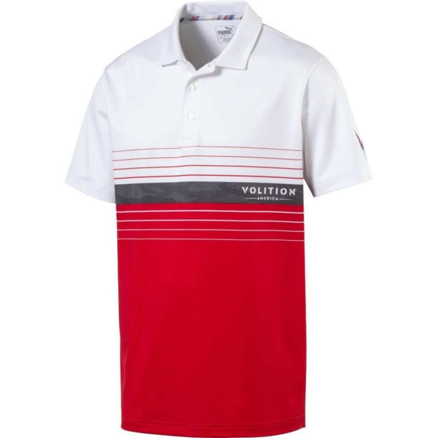 プーマ PUMA メンズ ゴルフ ポロシャツ トップス volition horizon golf polo High Risk Red