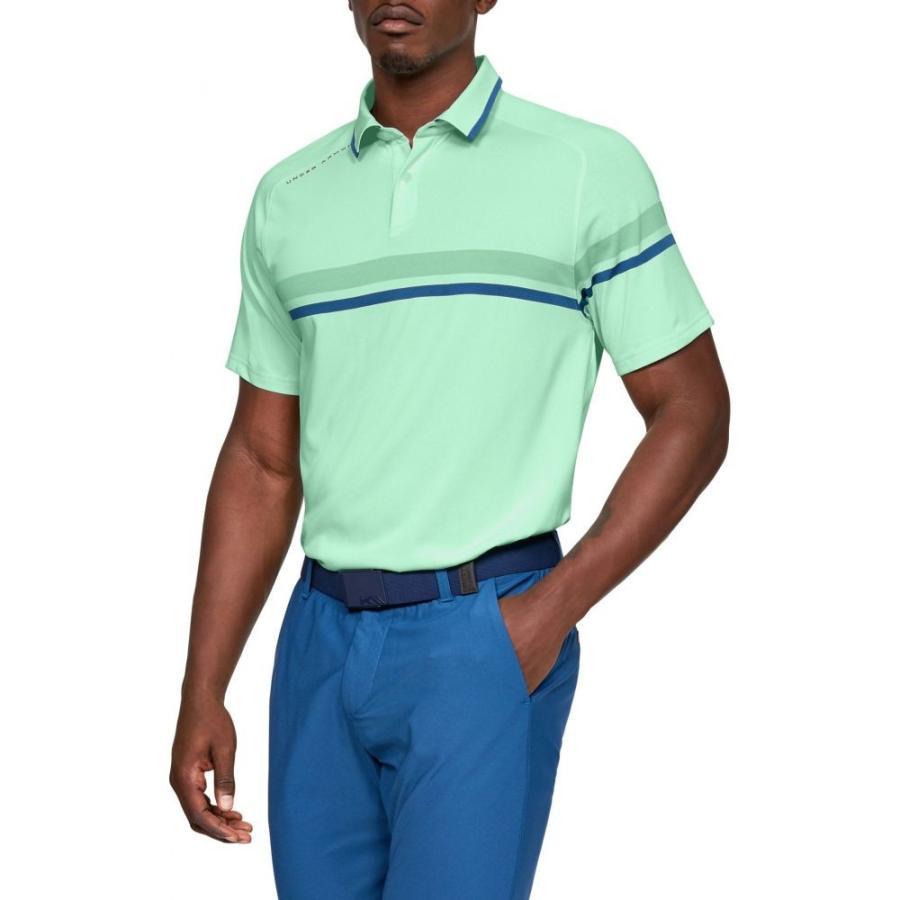アンダーアーマー Under Armour メンズ ゴルフ ポロシャツ トップス tour tips drive golf polo Aqua Foam