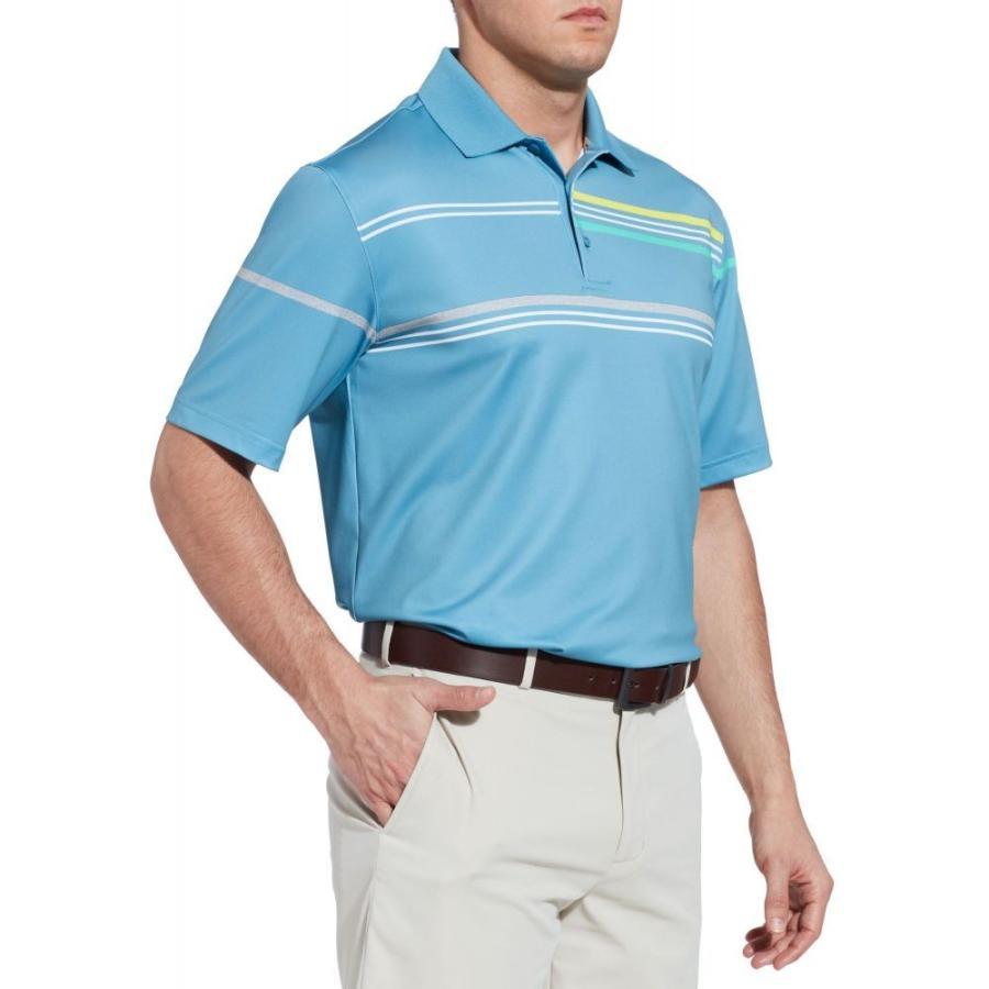 ウォルターヘーゲン Walter Hagen メンズ ゴルフ ポロシャツ トップス 11 majors chest stripe golf polo Niagara 青