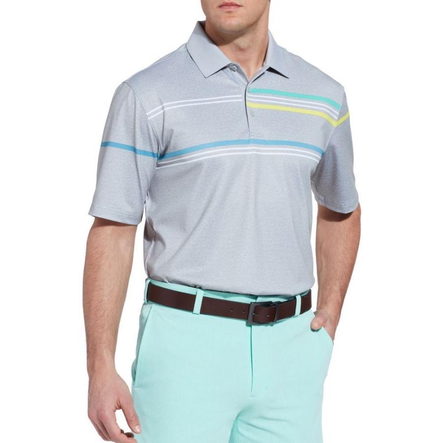 ウォルターヘーゲン Walter Hagen メンズ ゴルフ ポロシャツ トップス 11 majors chest stripe golf polo LT Heather グレー