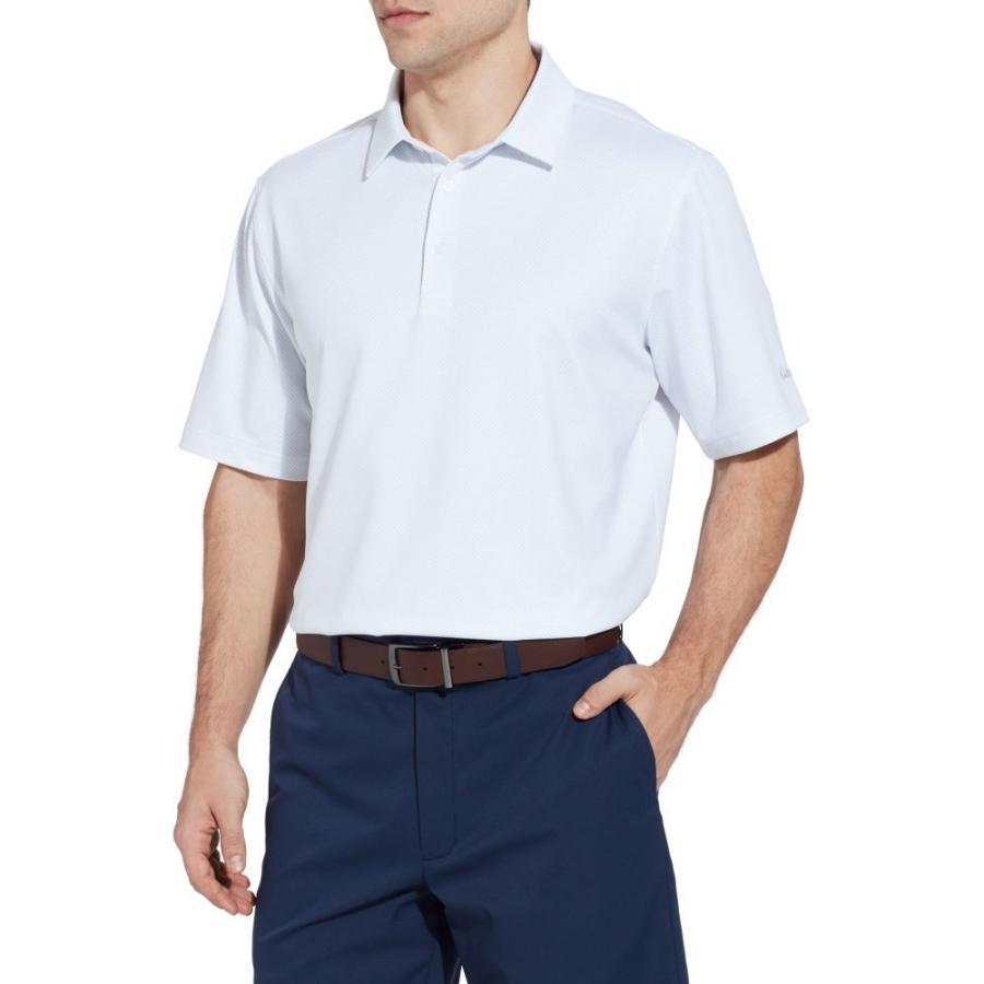 ウォルターヘーゲン Walter Hagen メンズ ゴルフ ポロシャツ トップス 11 majors textured solid golf polo White