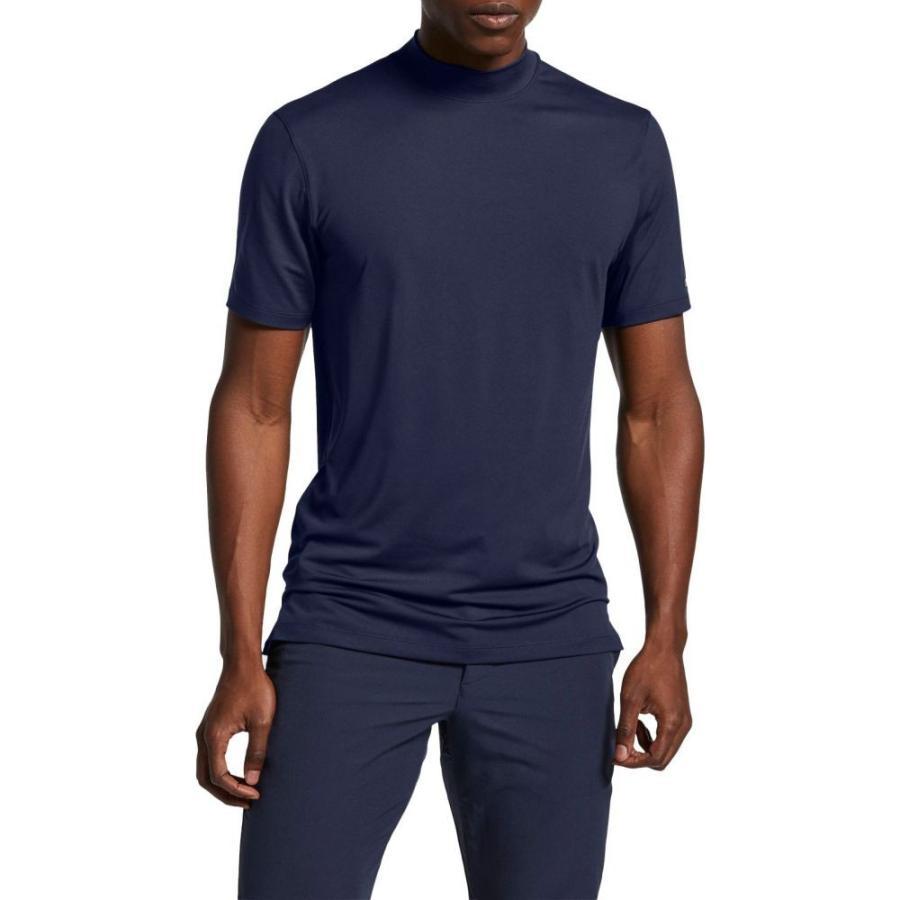 ナイキ Nike メンズ ゴルフ ポロシャツ トップス tiger woods mock neck golf polo Obsidian