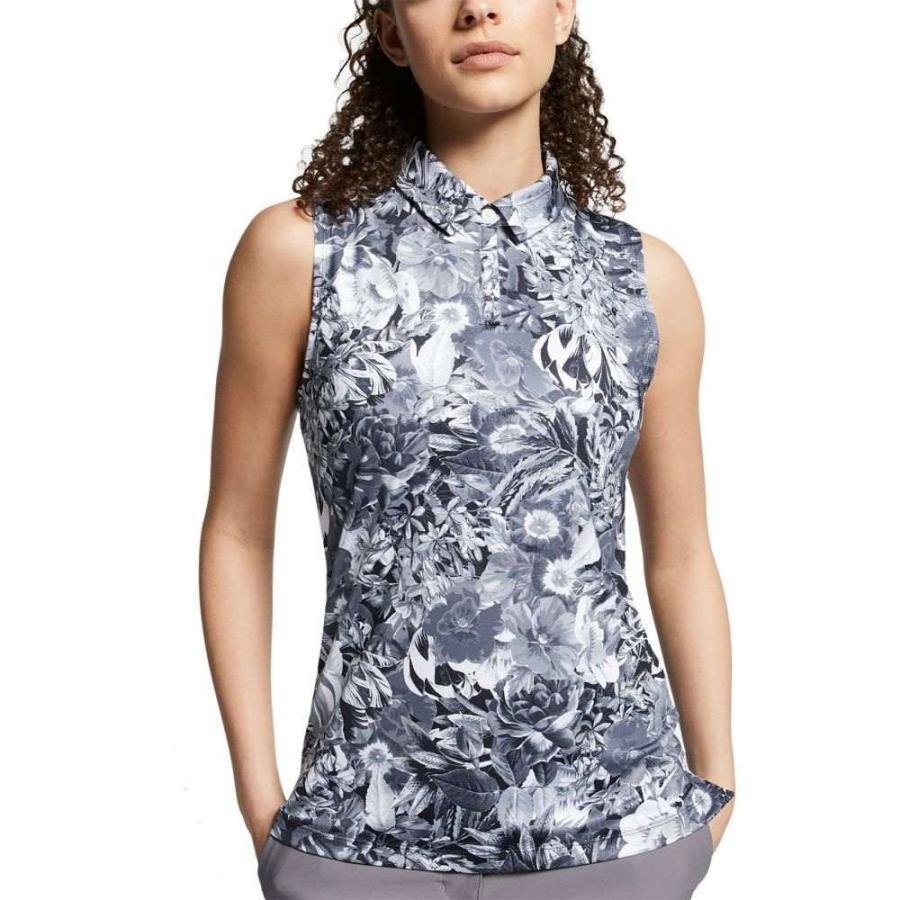 ナイキ Nike レディース ゴルフ ノースリーブ トップス dri-fit floral printed sleeveless golf polo Gridiron