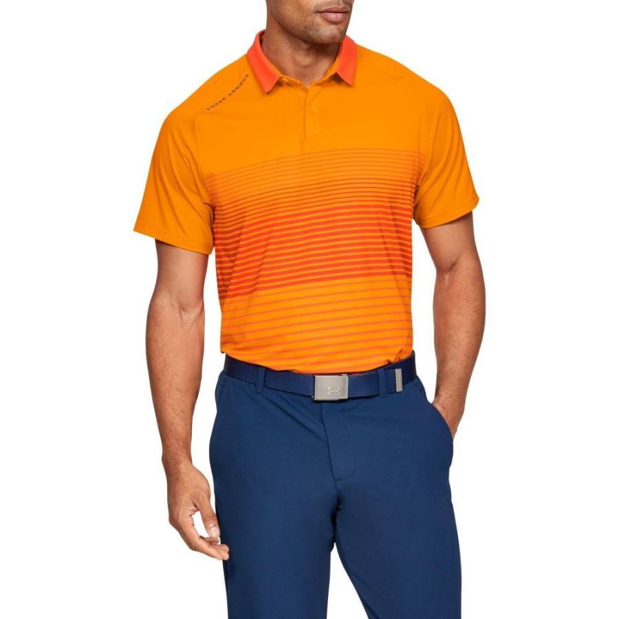 アンダーアーマー Under Armour メンズ ゴルフ ポロシャツ トップス iso-chill power play golf polo Hero Orange