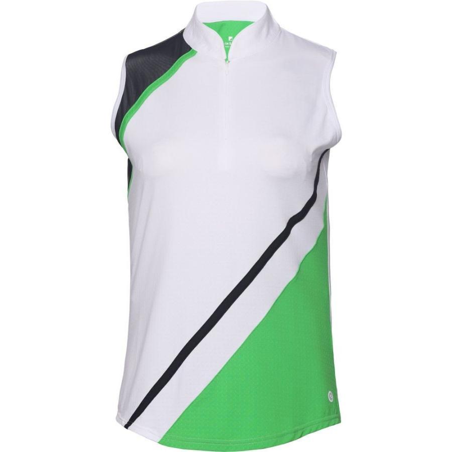 ベッティ&コート Bette & Court レディース ゴルフ ノースリーブ ポロシャツ トップス blithe sleeveless golf polo White
