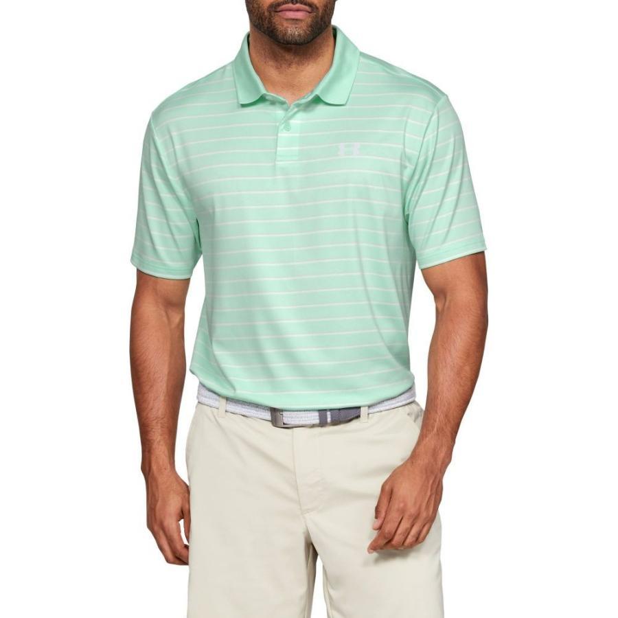アンダーアーマー Under Armour メンズ ゴルフ ポロシャツ トップス performance 2.0 textu赤 golf polo Aqua Foam/Summit 白い