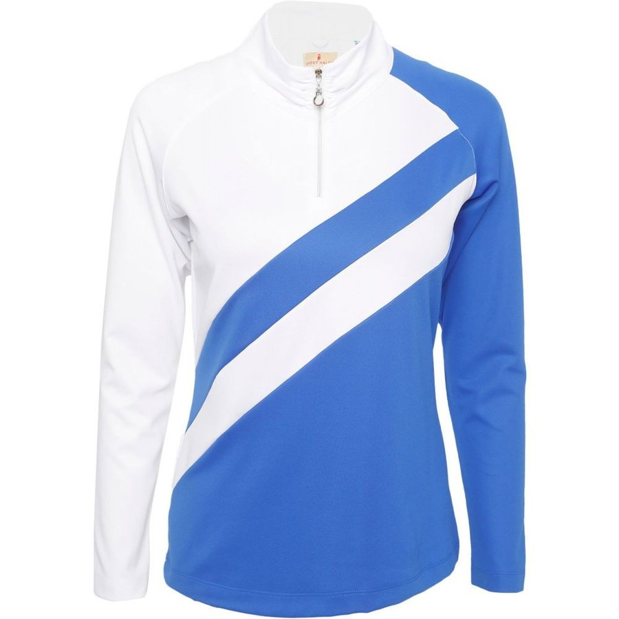 スポーツ ハーレイ Sport Haley レディース トップス ゴルフ Finnie Long Sleeve Golf Pullover 白い