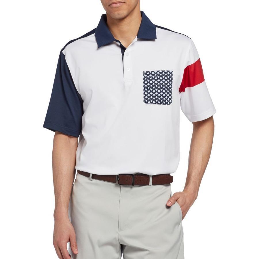 ウォルターヘーゲン Walter Hagen メンズ ゴルフ ポロシャツ トップス 11 majors stars pocket golf polo Navy