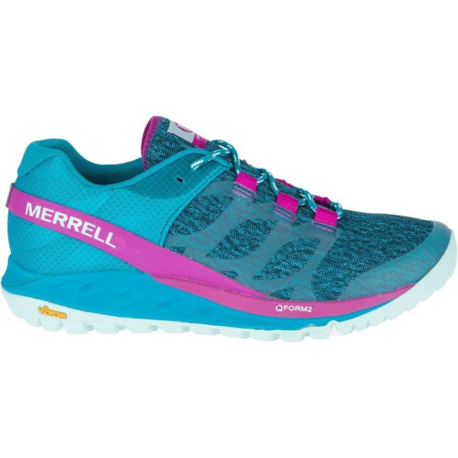メレル Merrell レディース ランニング・ウォーキング シューズ・靴 antora trail running shoes Teal/ピンク