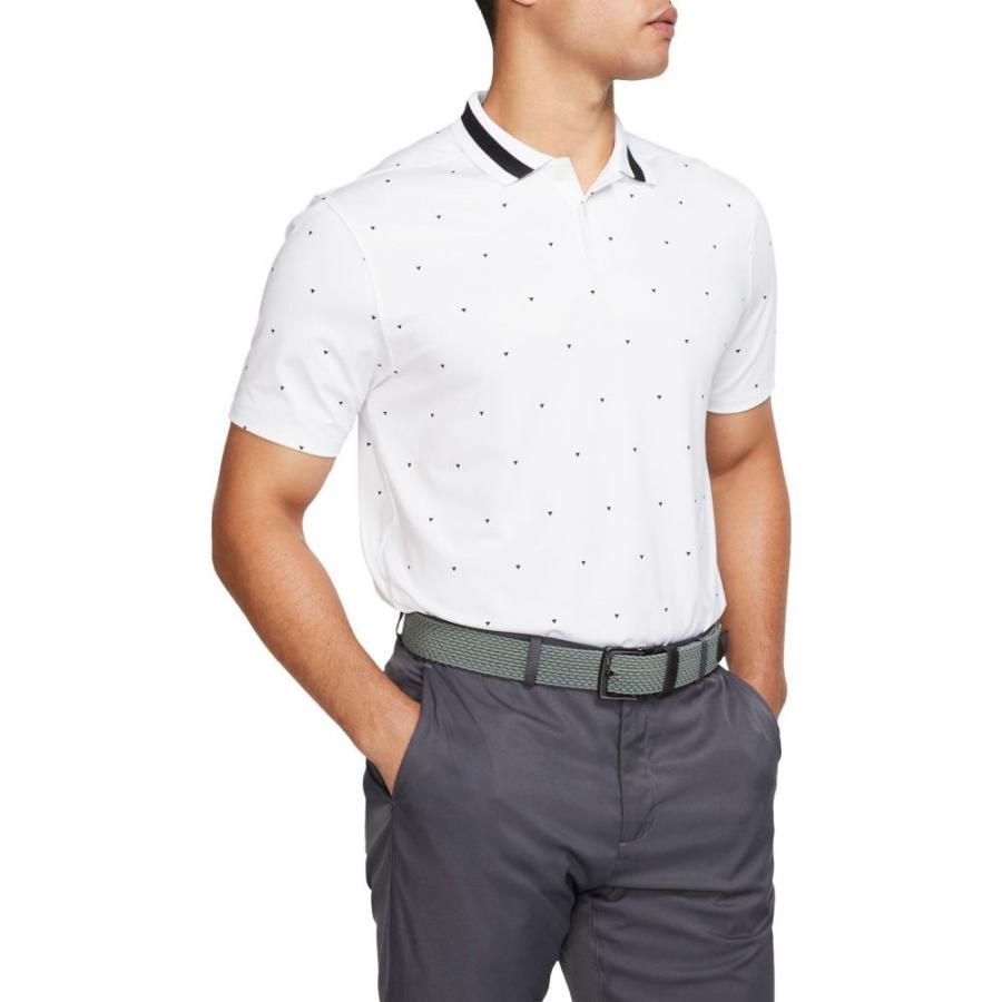 ナイキ Nike メンズ ゴルフ ポロシャツ トップス vapor triangle golf polo 白い/黒