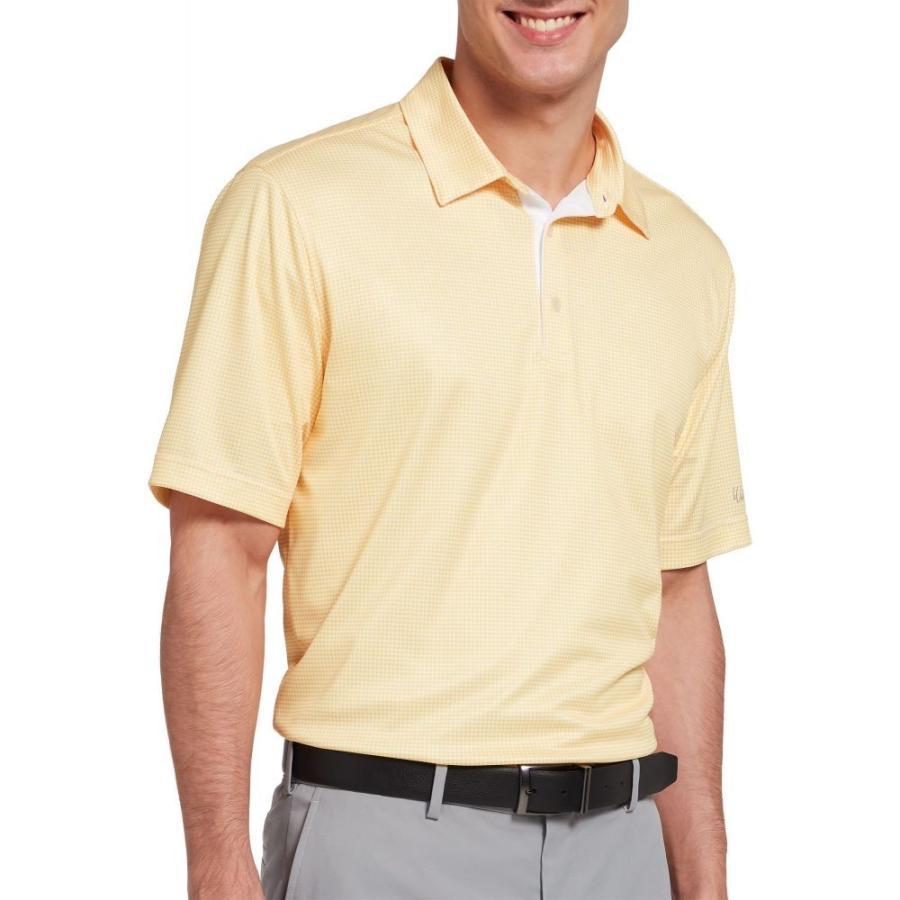 ウォルターヘーゲン Walter Hagen メンズ ゴルフ ポロシャツ トップス essentials houndstooth printed golf polo ゴールドen 黄