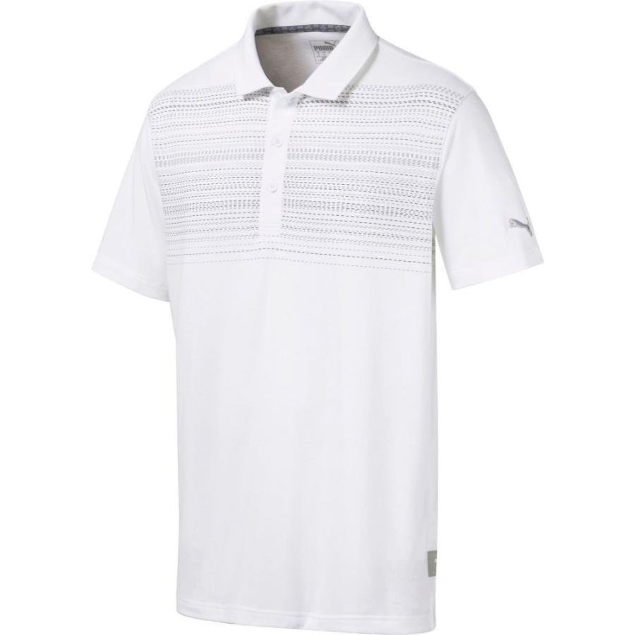 プーマ PUMA メンズ ゴルフ ポロシャツ トップス limelight golf polo Bright 白い/Quiet Shade