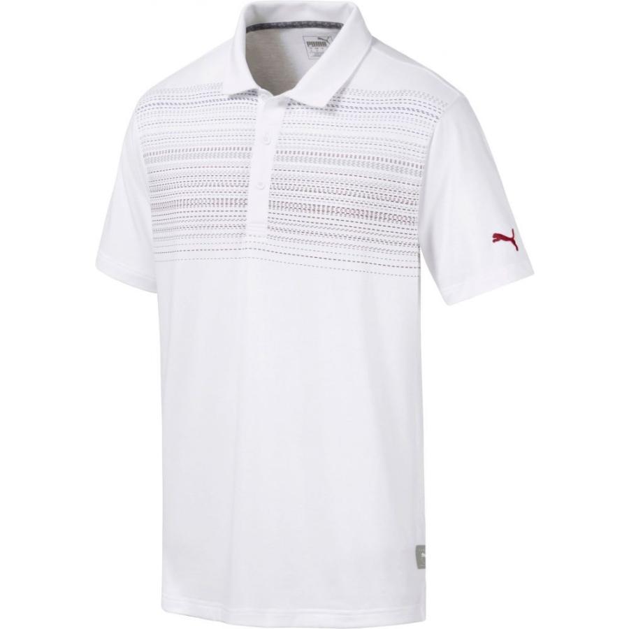 プーマ PUMA メンズ ゴルフ ポロシャツ トップス limelight golf polo Bright 白い/Rhubarb