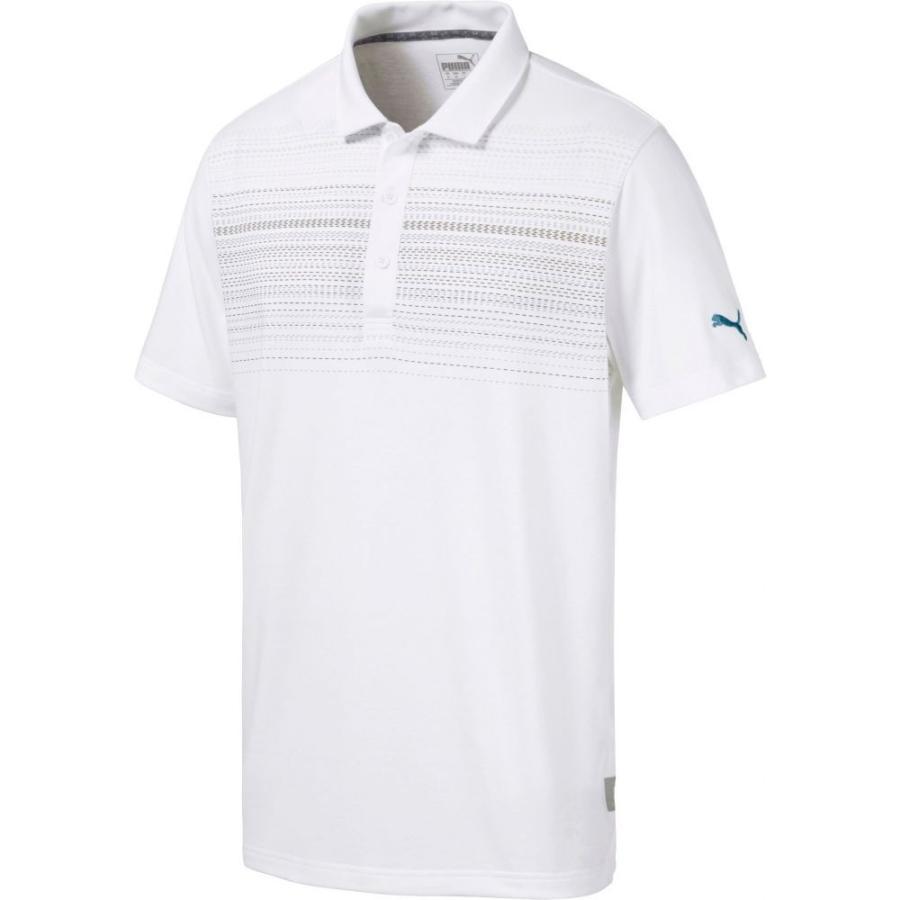 プーマ PUMA メンズ ゴルフ ポロシャツ トップス limelight golf polo Bright 白い/Gibraltar