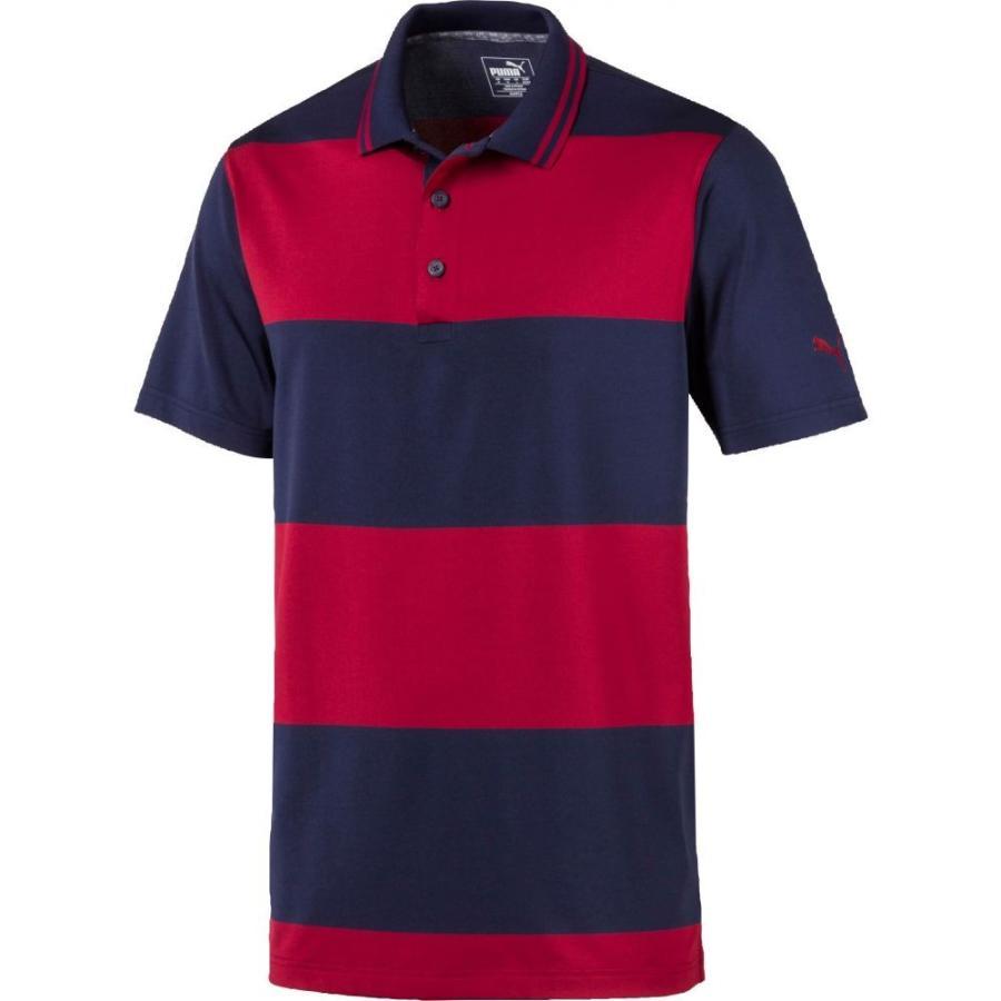 プーマ PUMA メンズ ゴルフ ポロシャツ トップス rugby golf polo Peacoat/Rhubarb