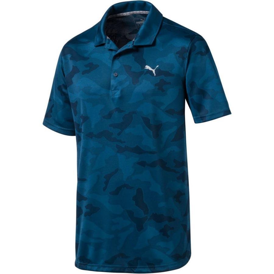 プーマ PUMA メンズ ゴルフ ポロシャツ トップス alterknit camo golf polo Gibraltar Sea