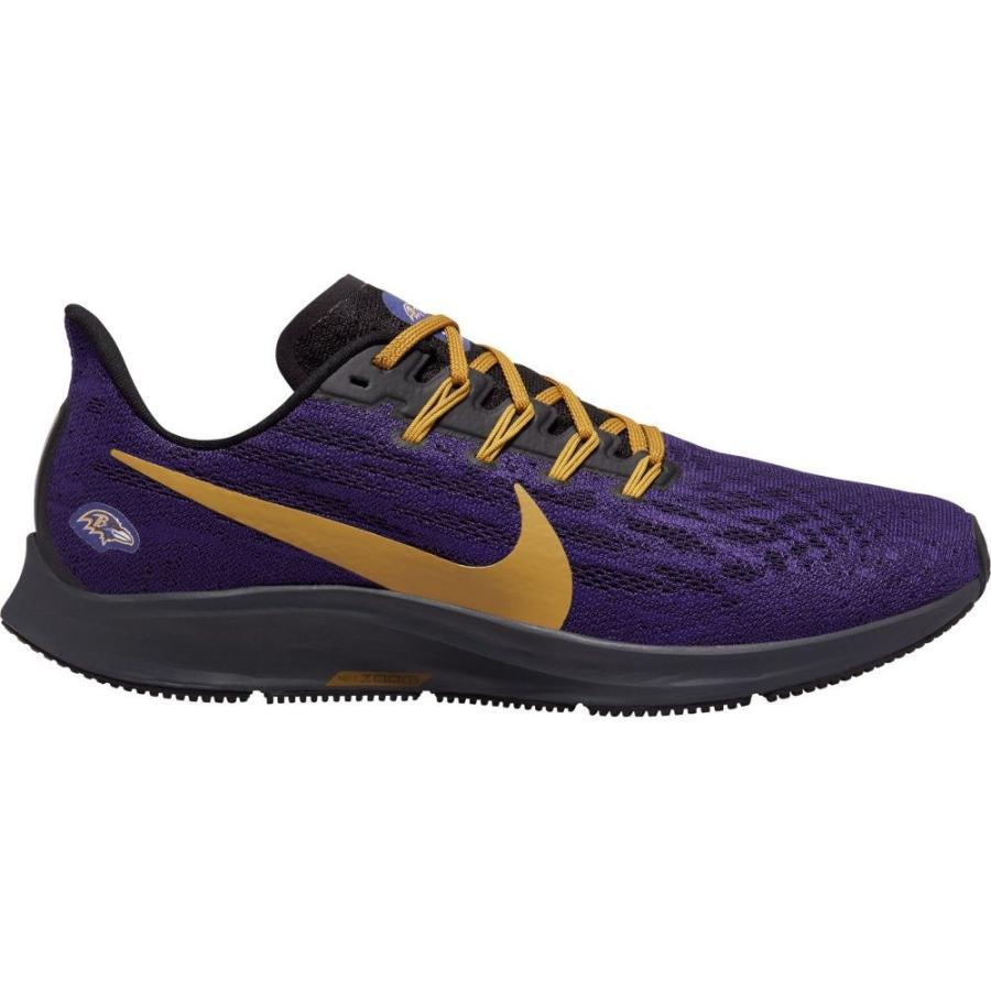 ナイキ Nike メンズ シューズ・靴 ランニング・ウォーキング Baltimore Ravens Air Zoom Pegasus 36 Running Shoes 紫の/ゴールド